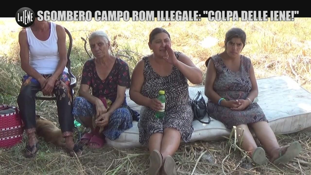 Sgombero campo rom Iene