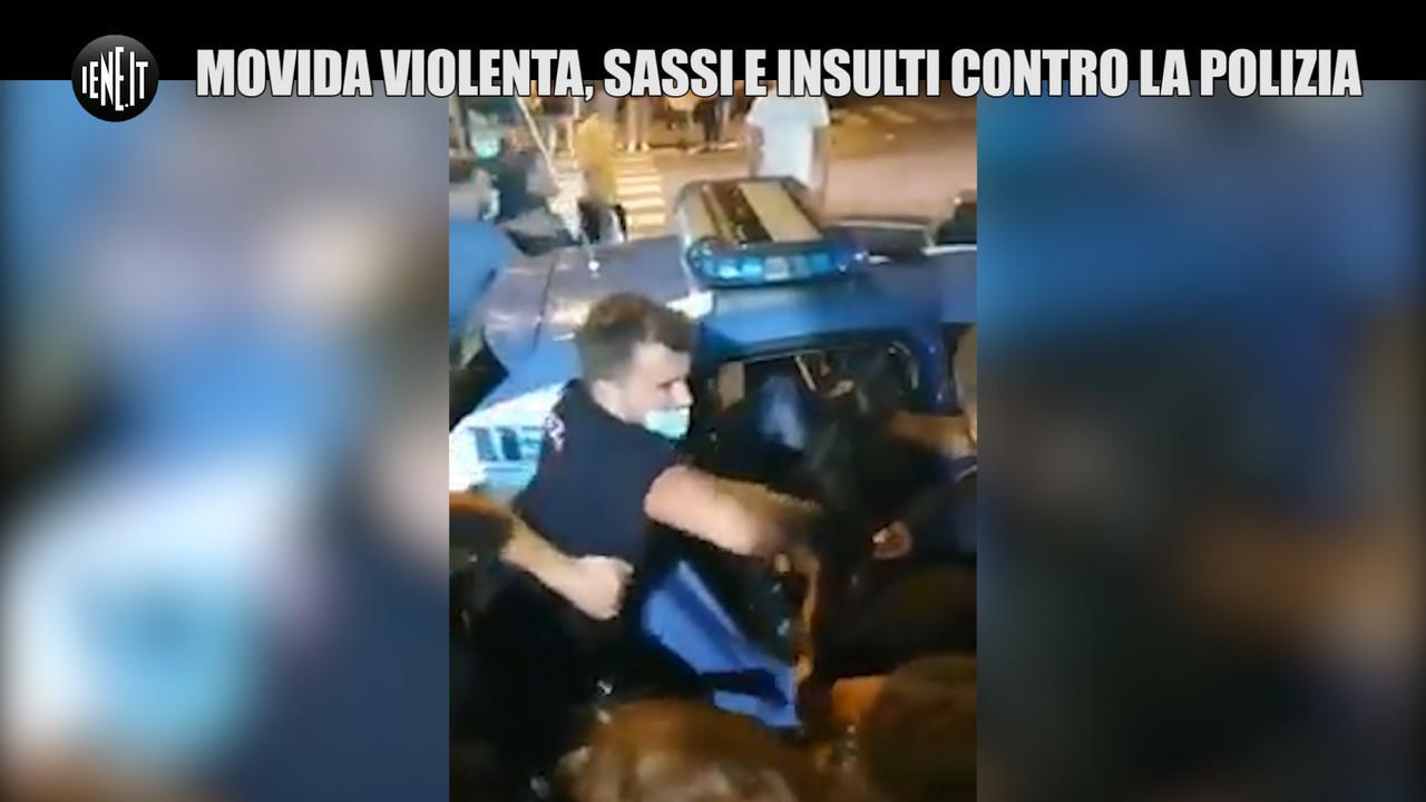 marina di carrara polizia sassi insulti