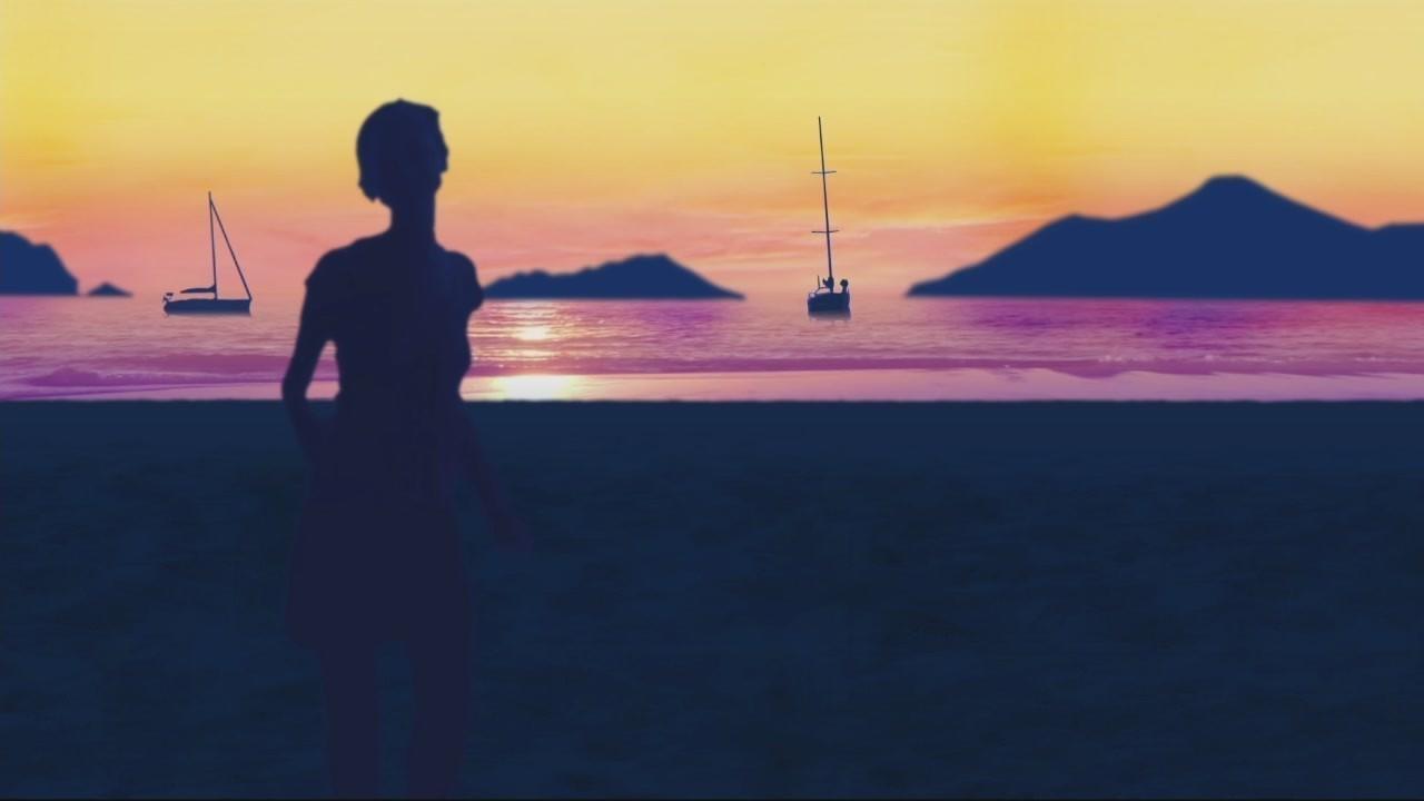 Nadia Toffa sigla ballo tramonto