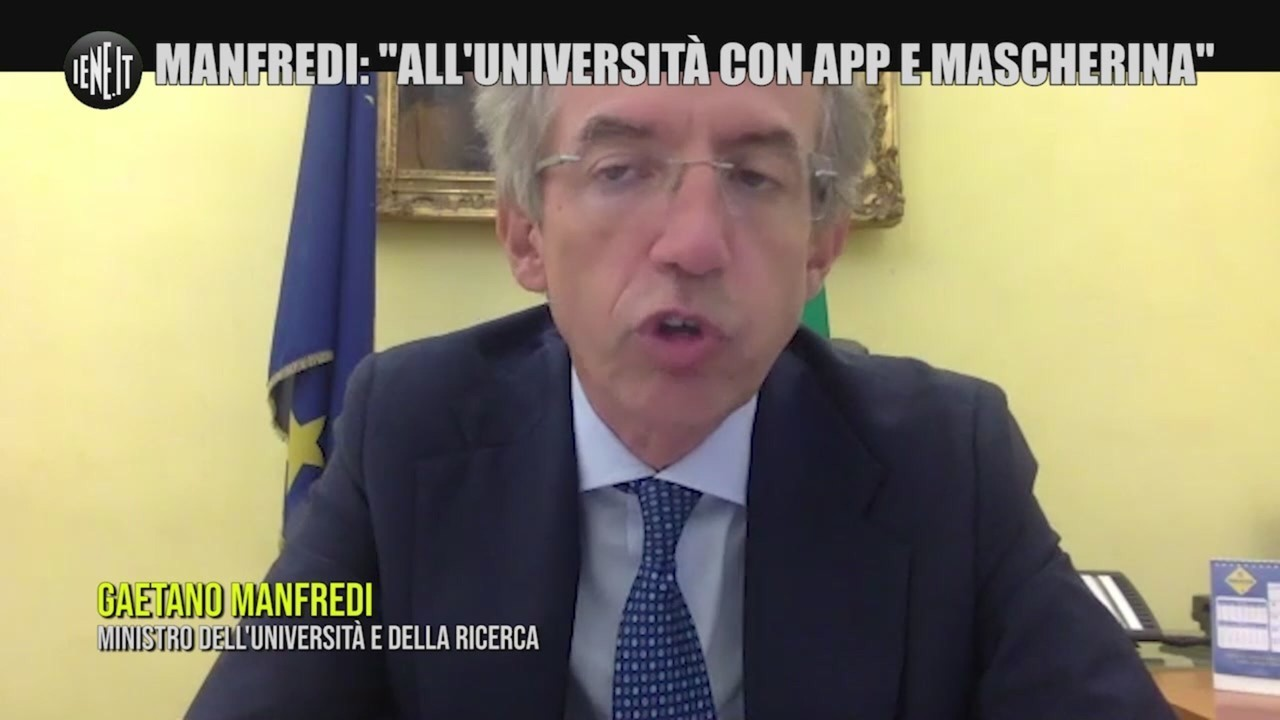 universita ministro manfredi mascherine app