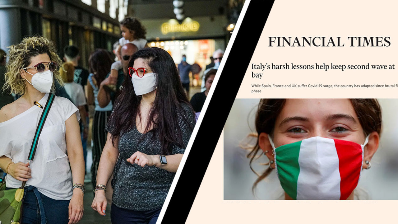 """Financial Times: """"L'Italia controlla la seconda ondata di Covid"""". Ecco perché"""