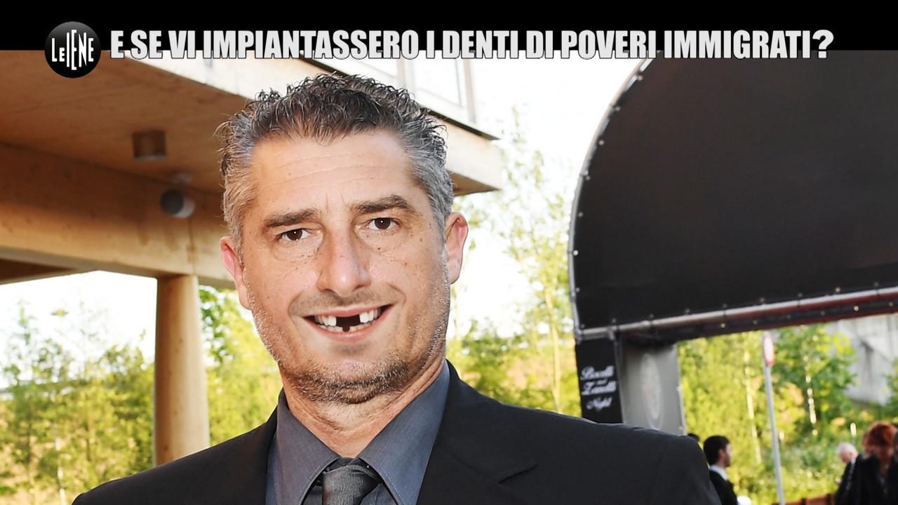 scherzo daniele massaro denti immigrati