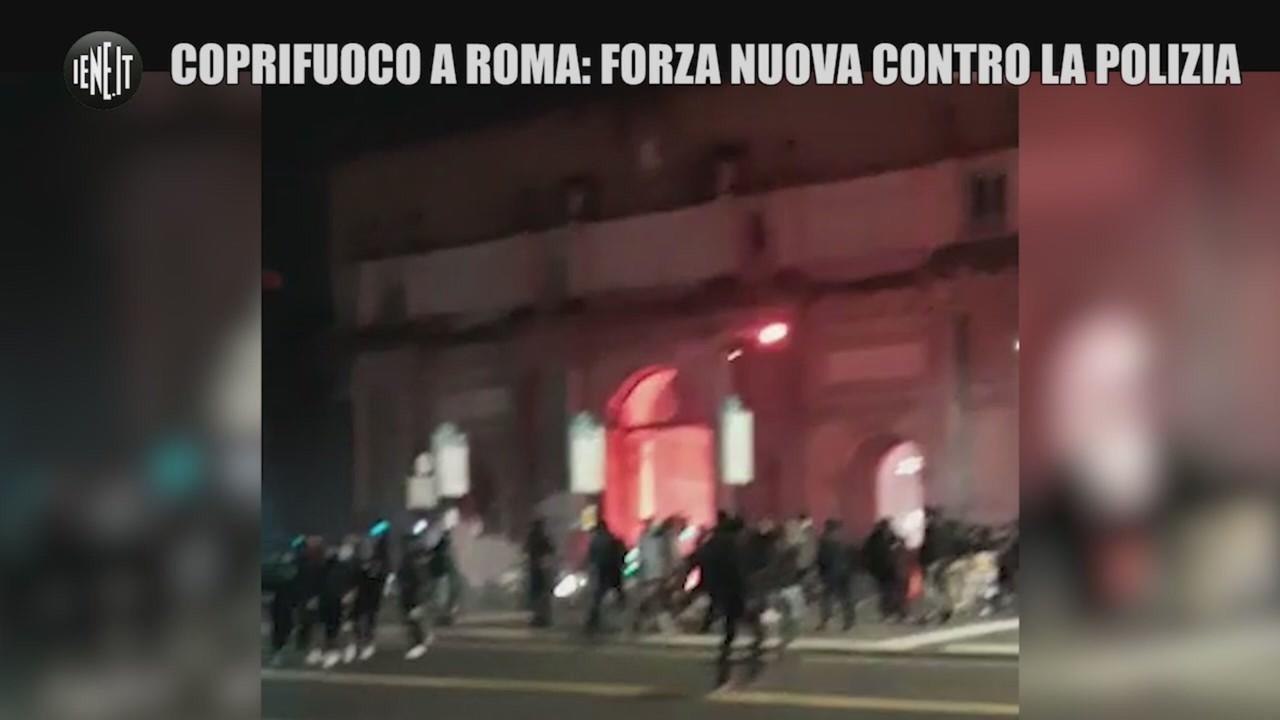 coprifuoco roma forza nuova feriti