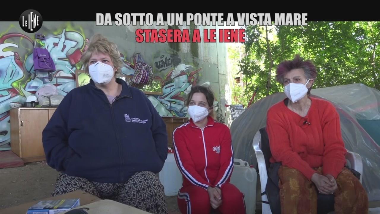 senzatetto ponte mare sicilia