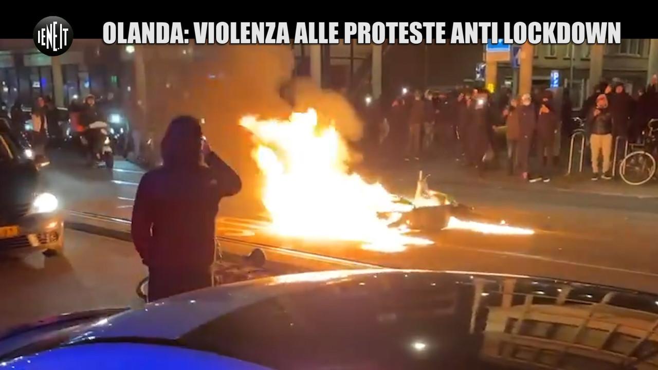 Olanda violenza proteste anti lockdown coprifuoco