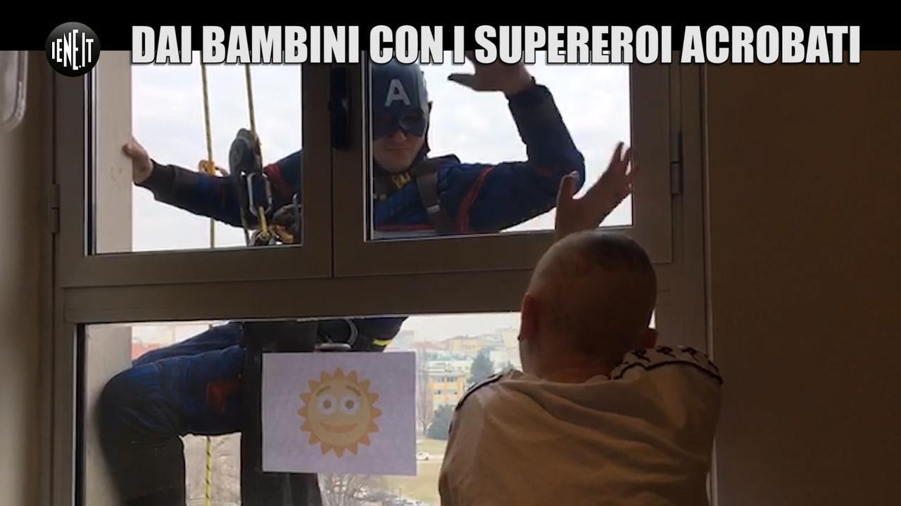 supereroi acrobatici bambini ospedale Torino