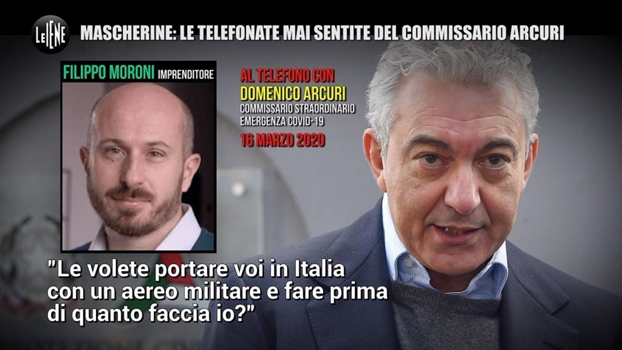 mascherine, commissario Arcuri