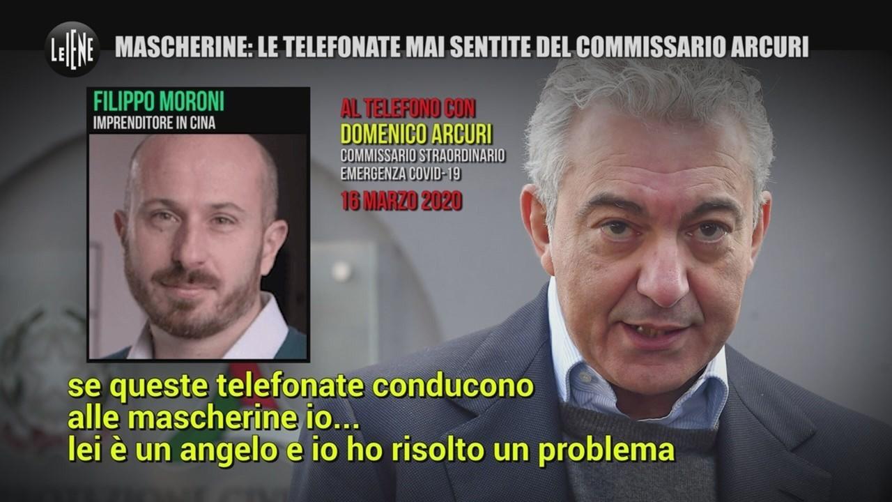 mascherine telefonate commissario Arcuri