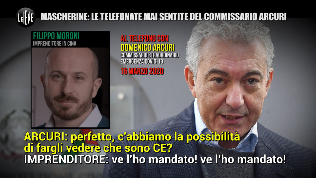 mascherine telefonate commissario arcuri
