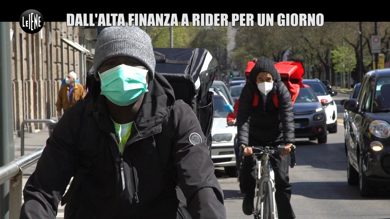 """Guido Brera: dall'alta finanza a rider per un giorno nell'""""armata di invisibili"""""""
