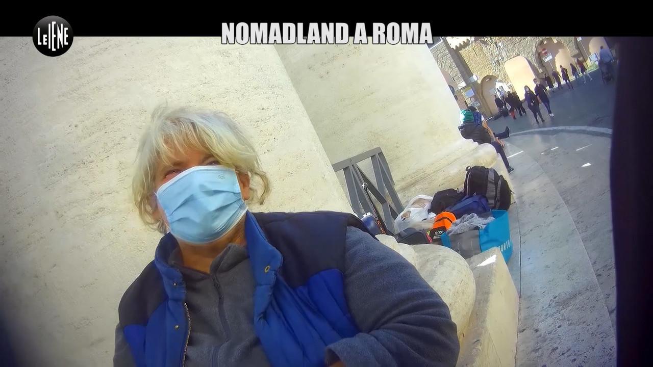 Senzatetto viaggio incredibile per le strade Roma