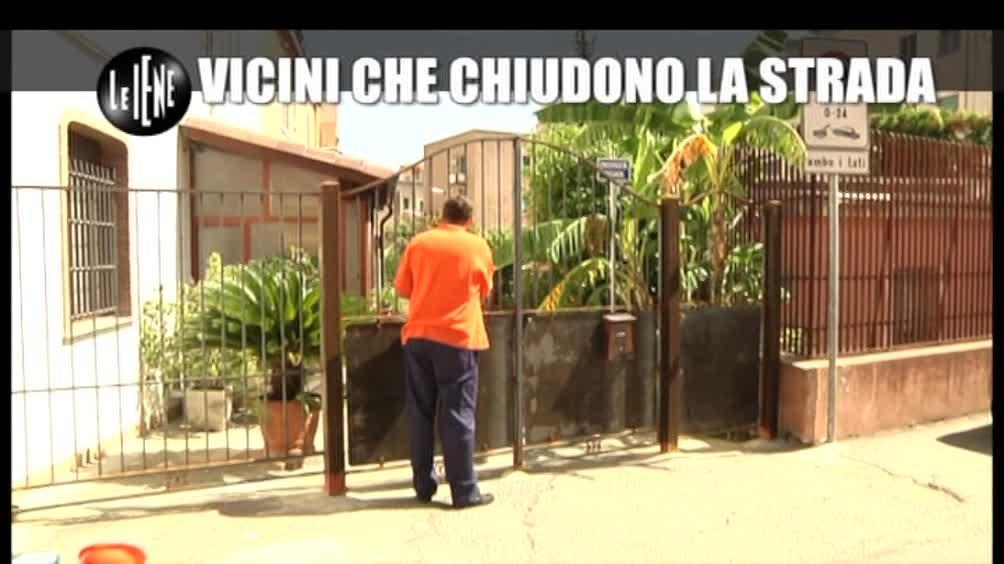 CASCIARI: I vicini che chiudevano la strada pubblica