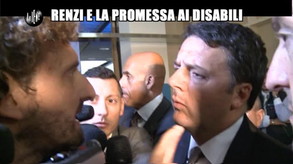 ROMA: Renzi e la promessa ai disabili
