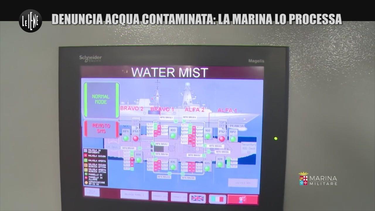 PELAZZA: Denuncia acqua contaminata: la Marina lo processa