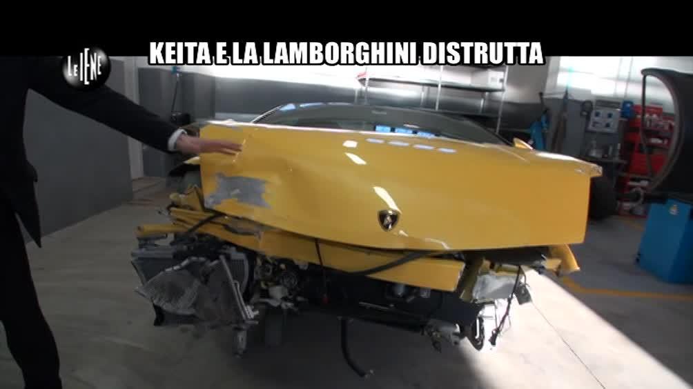TROMBETTA: Keita e la Lamborghini distrutta