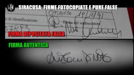 GIARRUSSO: Siracusa: firme fotocopiate e pure false