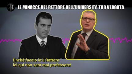 GIARRUSSO: Le minacce del rettore dell'Università Tor Vergata