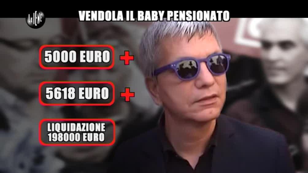 GIARRUSSO: Vendola il baby pensionato