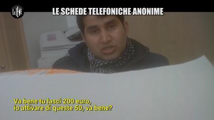 PELAZZA: Le schede telefoniche anonime