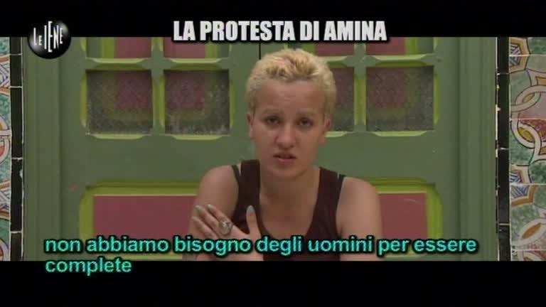 TRINCIA: La protesta di Amina