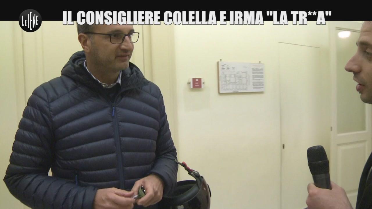 """Il consigliere Colella e Irma """"la tr**a"""""""