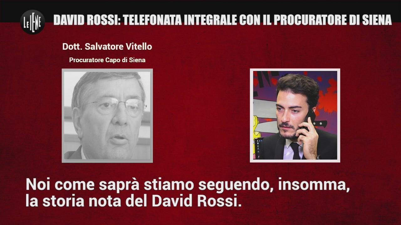 David Rossi: telefonata integrale con il Procuratore di Siena